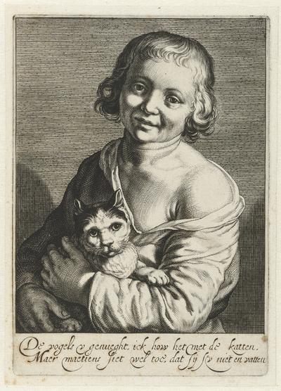 Jongen met kat