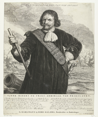 Portret van Tjerk Hiddes de Vries