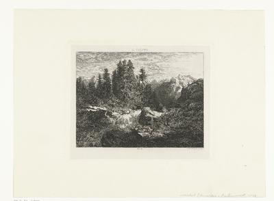 Berglandschap met beek