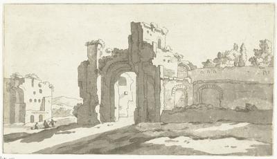 Ruïnes van de grote zaal van de Thermen van Caracalla, Rome