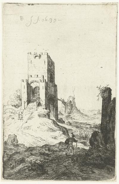 Ponte Mammolo te Rome; Romeinse ruïnes; Verscheijden Vervallen gebouwe Soo binnen als buyten Romen