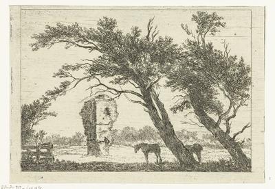 Overblijfselen van het huis van Gerard van Velsen; Verschijden Landschappen