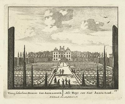 Gezicht op landhuis Clingendael te Den Haag; Uitgeleesene Gesichte van het Wijdvermaarde Loo als andere vorstelijke Huisen; Admirandorum quadruplex spectaculum