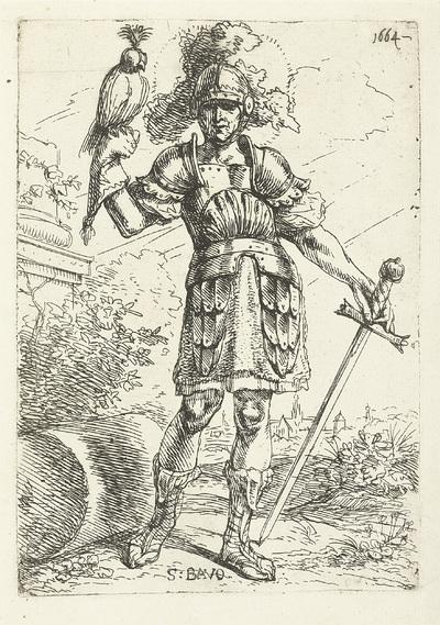 H. Bavo met een valk op zijn hand