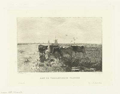 Koeien en molens bij plassen bij Vreeland; Aan de Vreelandsche plassen
