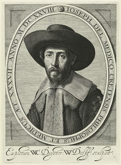 Portret van filosoof en geneesheer Joseph del Medico