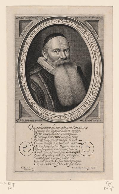 Portret van Jacobus Rolandus