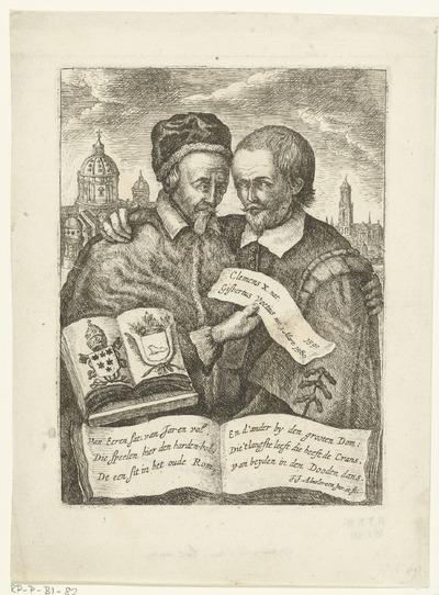 Portretten van Clemens X en Gisbertus Voetius