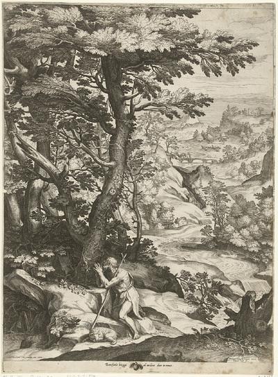 Landschap met Johannes de Doper