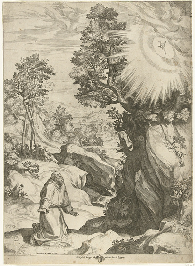 Landschap met het visioen van de H. Franciscus van Assisi