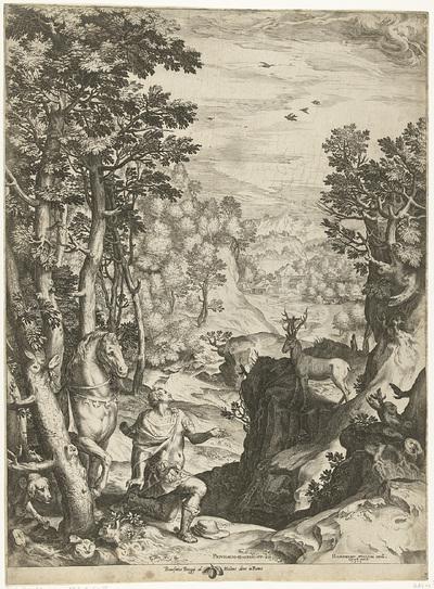 Landschap met het visioen van Eustachius