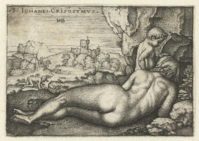 Image from object titled Heilige Johannes Chrysostomus als kluizenaar in de woestijn