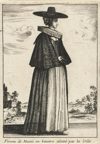 Femme de Munic en bauiere allant par la Ville; Vrouwen in klederdracht; Livre Curieux