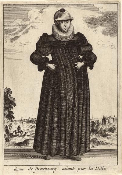 Dame de Strasbourg allant par la Ville; Vrouwen in klederdracht; Livre Curieux