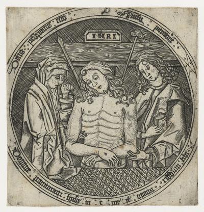 Man van Smarten tussen Maria en Johannes de Evangelist