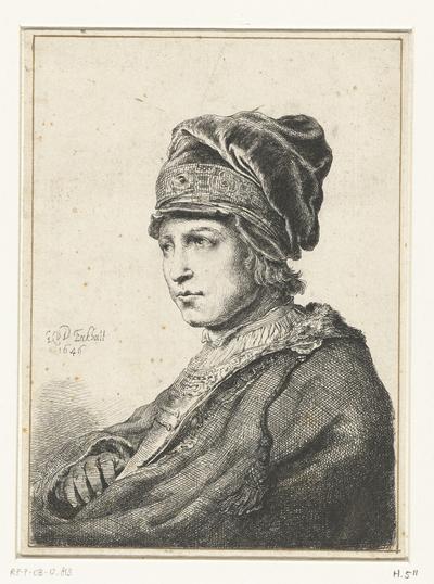 Portret van een jongeman met muts; Zelfportret