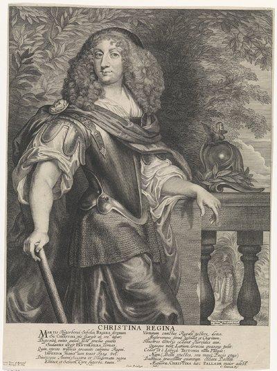 Allegorisch portret van Christina, koningin van Zweden, als Minerva