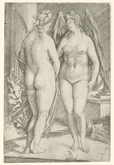 Allegorie met Victoria en Roem