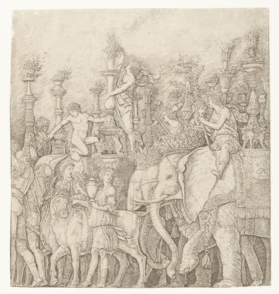 Olifanten in triomftocht van Caesar; Triomf van Caesar