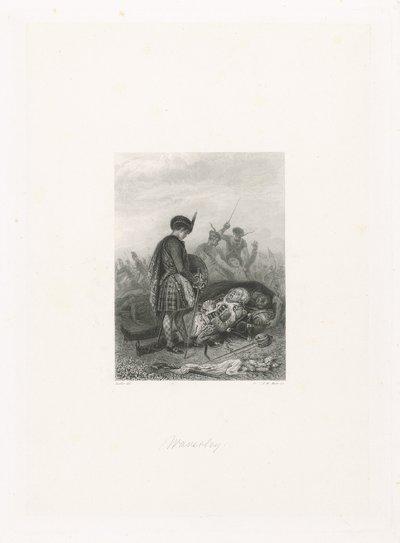 Edward Waverley op een slagveld; Waverley