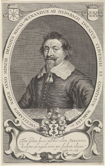 Portret van Winand ab Heimbach