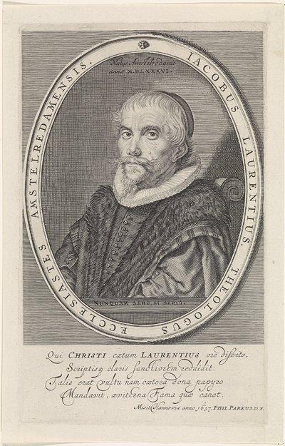 Portret van Jacobus Laurentius
