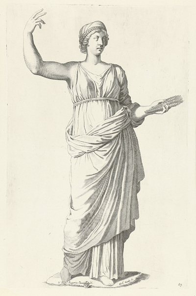 Standbeeld van Ceres; Galleria Giustiniana del Marchese Vincenzo Giustiniani I