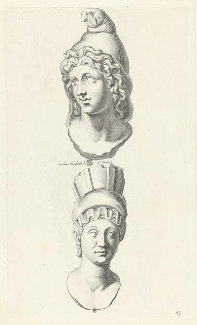 Portretten van Paris en Cybele; Galleria Giustiniana del Marchese Vincenzo Giustiniani II