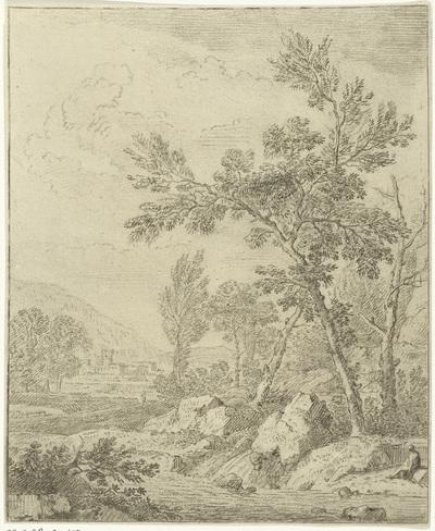 Landschap met beek