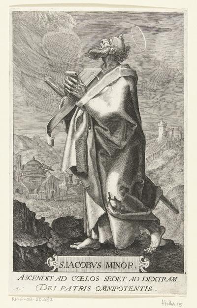 Apostel Jakobus de Mindere (Jacobus Minor); S. Iacobvs Minor; Christus en twaalf apostelen