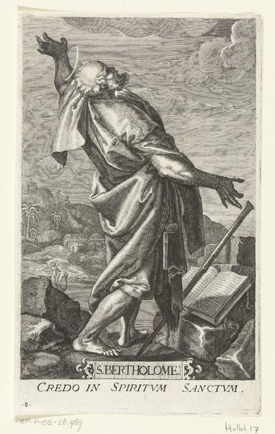 Apostel Bartolomeüs; S. Bertholome; Christus en twaalf apostelen