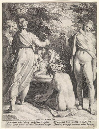 Diana's nimfen ontdekken de zwangerschap van Callisto
