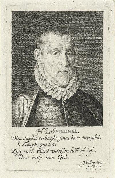 Portret van Hendrick Laurensz. Spieghel