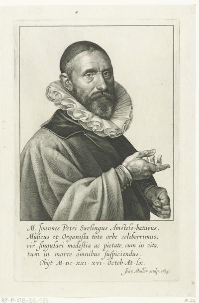 Portret van Jan Pieterszoon Sweelinck