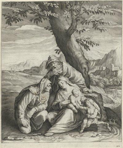 Heilige Familie met Elisabet en Johannes de Doper