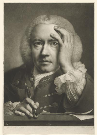 Zelfportret Thomas Frye, 1760