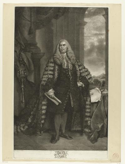 Portret van Sir John Cust