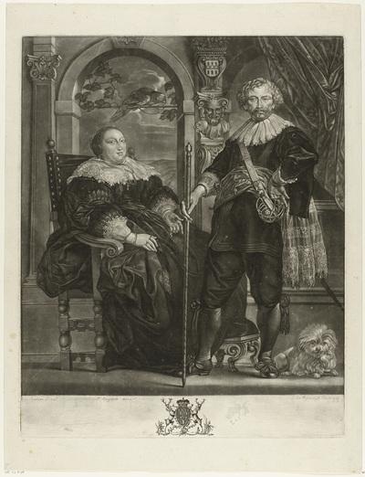 Portret van Frederik Hendrik en Amalia van Solms