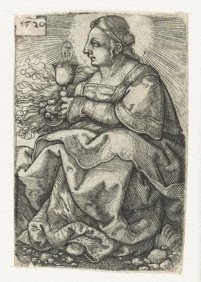Heilige Barbara met kelk en hostie