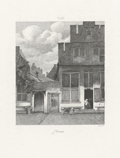 Gezicht op huizen in Delft; Hollandse meesters