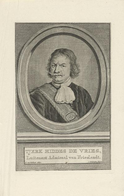 Portret van Tjerck Hiddes de Vries; Tjerk Hiddes de Vries
