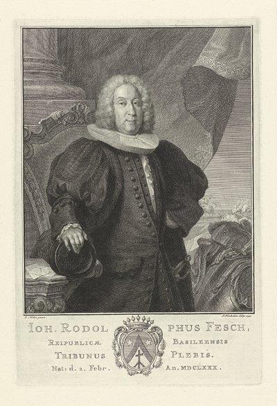Portret van Joh. Rodolphus Fesch; Joh. Rodolphus Fesch