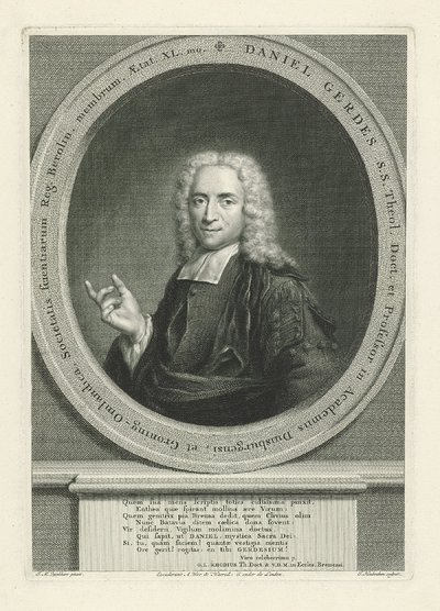 Portret van Daniël Gerdes; Daniël Gerdes
