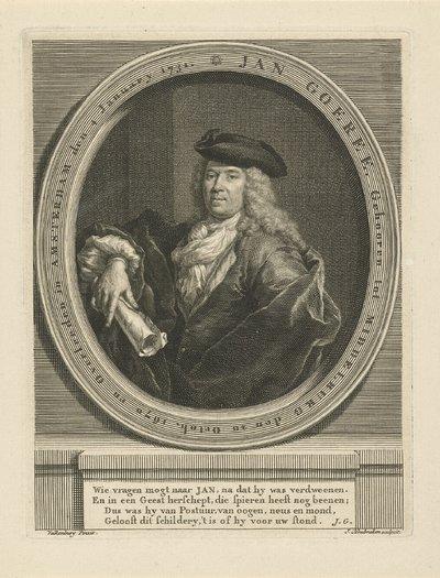 Portret van Jan Goeree; Jan Goeree
