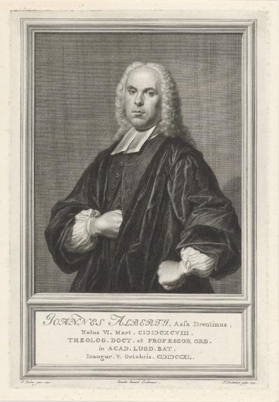 Portret van Johannes Alberti; Joannes Alberti, Asfa Drentinus
