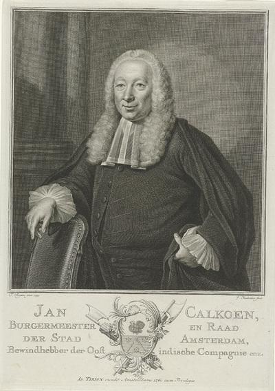 Portret van Jan Calkoen; Jan Calkoen