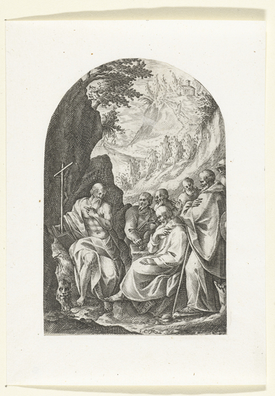 De Heilige Hiëronymus met zijn leerlingen; Schilderijen en sculpturen te Rome