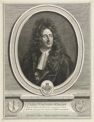 Portret van Jules Hardouin Mansart; Julius Hardouin Mansart