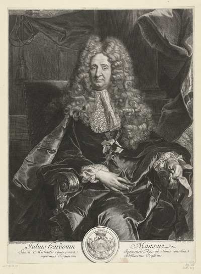 Portret van Jules Hardouin-Mansart; Julius Hardouin Mansart
