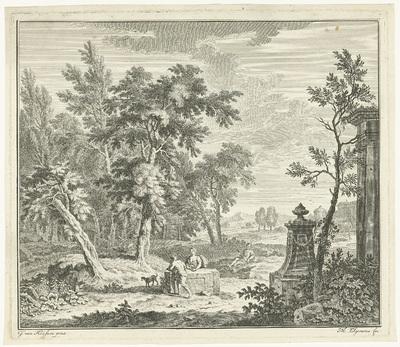 Landschap met herder; Arcadische landschappen